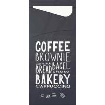 Duni sacchetto Bakery/fehér 19x8,5cm 5x100db/gyűjtő