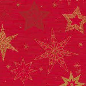 Duni szalvéta Star stories red 3 rétegű 33x33cm 12x20db/gyűjtő