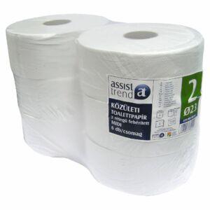 Trend midi toalettpapír 2rtg M9,5 D23 244m 1220lap fehérített 6tek/gyűjtő