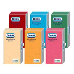 Regina Salvia Magna Color kevert szalvéta 1rtg 38x38cm 1/8 24x30db/gyűjtő
