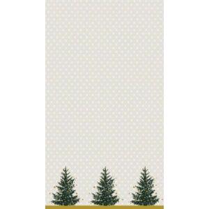 Dunicel asztalterítő Trees in gold 138x220cm 5db/gyűjtő