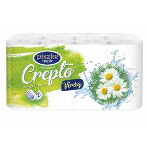Crepto Virág kistekercses toalettpapír 2rtg M9,5 D10,8 19,55m 170lap cell 4x16tek/gyűjtő