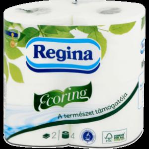 Regina Ecoring toalettpapír 2rtg M9,1 140lap fehérített 16x4tek/gyűjtő