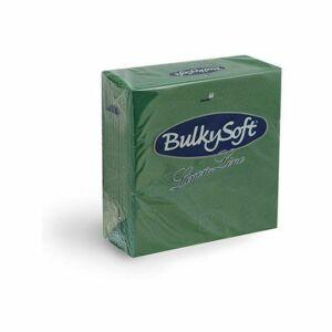 BulkySoft Linen Line arlaid szalvéta zöld 1rtg 40x40cm 10x50db/gyűjtő