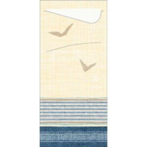 Duni sacchetto Seaway/fehér 19x8,5cm 5x100db/gyűjtő