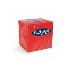 BulkySoft rainbow szalvéta piros 2rtg 33x33cm 20x100db/gyűjtő