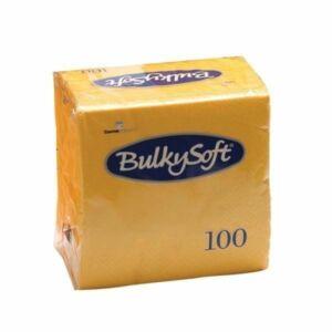 BulkySoft rainbow szalvéta sárga 2rtg 33x33cm 20x100db/gyűjtő