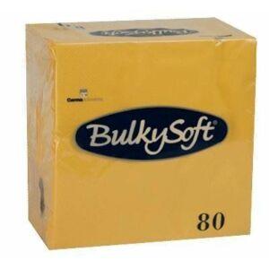 BulkySoft rainbow szalvéta sárga 3  rétegű 33x33cm 20x80db/gyűjtő