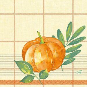 Duni szalvéta Pumpkin spice 3rtg 33x33cm 4x250db/gyűjtő