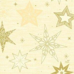 Duni szalvéta Star stories cream 3rtg 33x33cm 10x50db/gyűjtő