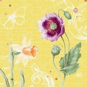 Duni szalvéta Spring lilies 3 rétegű 33x33cm 10x50db/gyűjtő