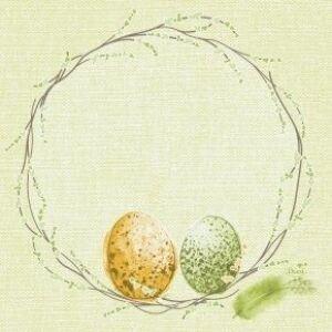 Duni szalvéta Easter pasture 3 rétegű 33x33cm 10x50db/gyűjtő