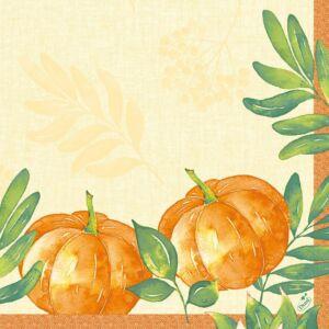 Duni classic szalvéta Pumpkin spice 4rtg 40x40cm 6x50db/gyűjtő