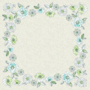 Dunicel asztalközép Jardin 84x84cm 5x20db/gyűjtő
