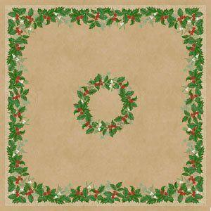 Dunisilk asztalközép Snowy berries 84x84cm 5x20db/gyűjtő
