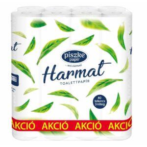 Harmat 40 kistekercses toalettpapír 3rtg M9,5 D10,8 13,80m 120lap cell 40tek/csomag
