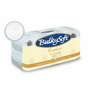 BulkySoft excellence kistekercses toalettpapír 3rtg 150lap 15,75m cell 12x8tek/gyűjtő