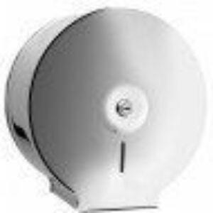 Bisk Jumbo tekercses toalettpapír adagoló inox (zárható)