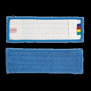 VDM zsebes bordás mikroszálas mop kék 40cm színkódolt