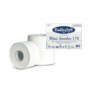 BulkySoft prémium mini jumbo toalettpapír 2 rétegű M9 D19 170m cell 12tek/gyűjtő
