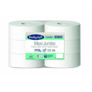 BulkySoft comfort maxi jumbo toalettpapír 2rtg M9 D25 300m fehérített 6tek/gyűjtő