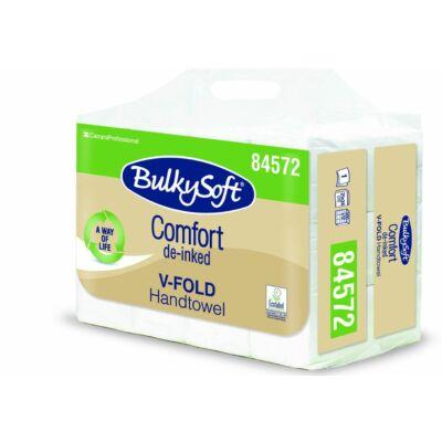 BulkySoft comfort V hajtogatott kéztörlő 1rtg 24x21cm 300lap fehérített 12cs/gyűjtő