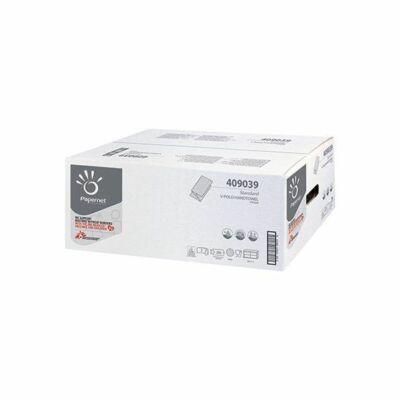 Papernet Standard V hajtogatott kéztörlő fehér 2rtg 266 lap 15cs/karton