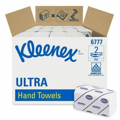 Kleenex ultra médium törlőpapír 2rtg 31,5x21,5cm 124lap fehérített 30cs/gyűjtő