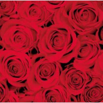 Dunisoft szalvéta Red roses 40x40cm 12x12db/gyűjtő