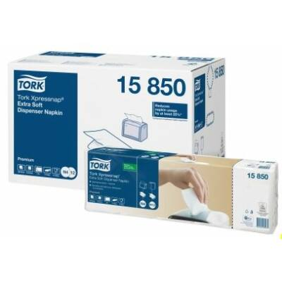 Tork Premium Xpressnap extra soft adagolós szalvéta 2rtg 16,5x10,7cm fehér N4 8cs/gyűjtő