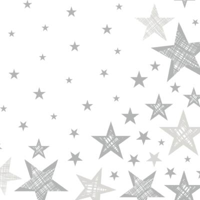 Duni szalvéta Shining Star White 3 rétegű 33x33cm 12x20db