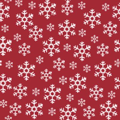 Duni szalvéta Red Snowflakes 3rtg 33x33cm 12x20db/gyűjtő