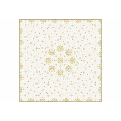 Dunicel asztalközép Christmas Deco Cream 84x84cm 10db/gyűjtő