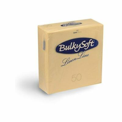 BulkySoft Linen Line arlaid szalvéta krém 1rtg 40x40cm 10x50db/gyűjtő