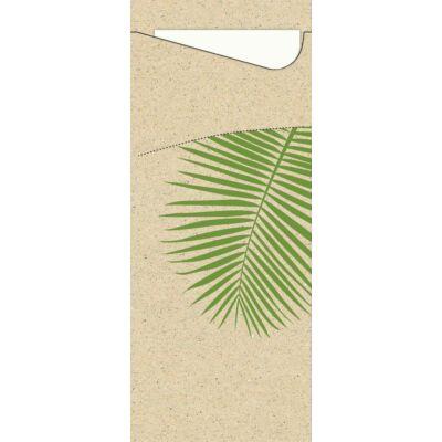 Duni sacchetto Leaf Graspapier/fehér 19x8,5cm 5x100db/gyűjtő