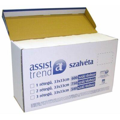 Trend szalvéta fehér 1rtg 33x33cm 600db/gyűjtő