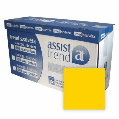 Trend szalvéta sárga 2rtg 33x33cm 750db/gyűjtő