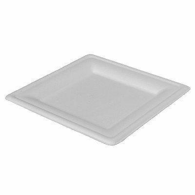 Duni Ecoecho Bagasse tányér fehér négyszögletű 20x20cm 10x50db/gyűjtő