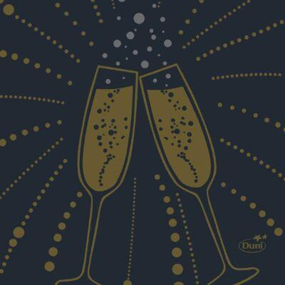 Dunisoft szalvéta Festive Cheers Black 20x20cm 16x180db/gyűjtő