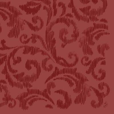Dunilin szalvéta Saphira bordeaux 40x40cm 12x45db/gyűjtő
