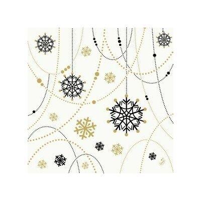 Dunisoft szalvéta Snowflake necklace white 40x40cm 6x60db/gyűjtő