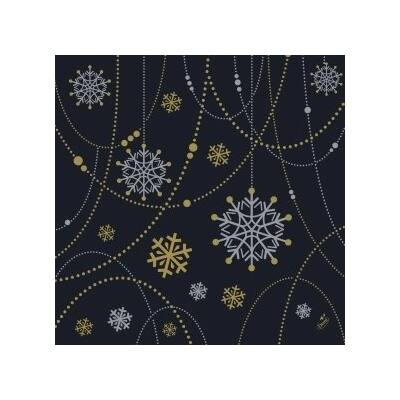 Dunisoft szalvéta Snowflake necklace black 40x40cm 6x60db/gyűjtő