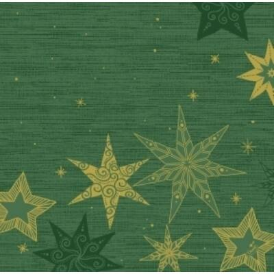 Dunisoft szalvéta Star stories green 40x40cm 6x60db/gyűjtő