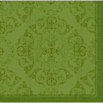 Dunilin szalvéta Opulent Leaf Green 40x40cm 12x45db/gyűjtő