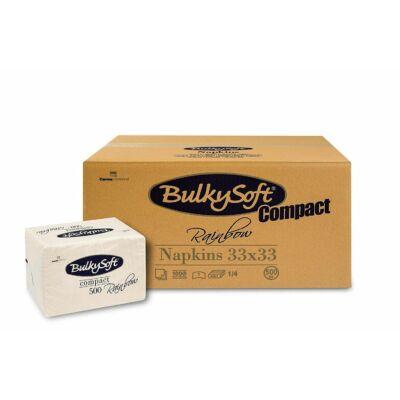 BulkySoft rainbow compact szalvéta krém 1rtg 33x33cm 6x500db/gyűjtő