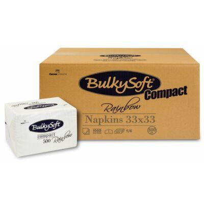 BulkySoft rainbow compact szalvéta fehér 1rtg 33x33cm 6x500db/gyűjtő