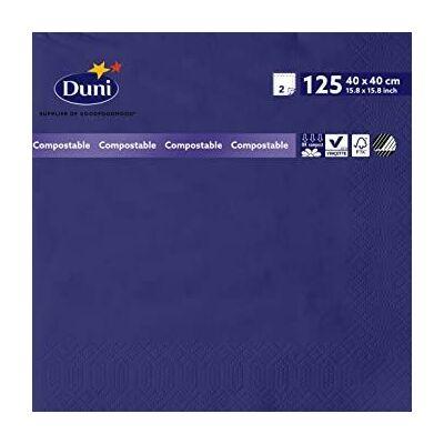 Duni szalvéta Dark blue 2rtg 40x40cm 10x125db/gyűjtő