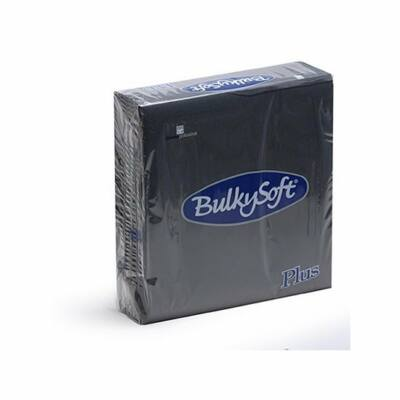 BulkySoft rainbow plus szalvéta fekete 2rtg 38x38cm 36x40db/gyűjtő