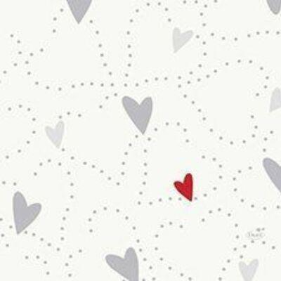Duni szalvéta Love 3rtg 33x33cm 10x50db/gyűjtő