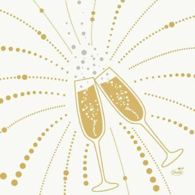 Duni szalvéta Festive Cheers white 3rtg 33x33cm 10x50db/gyűjtő